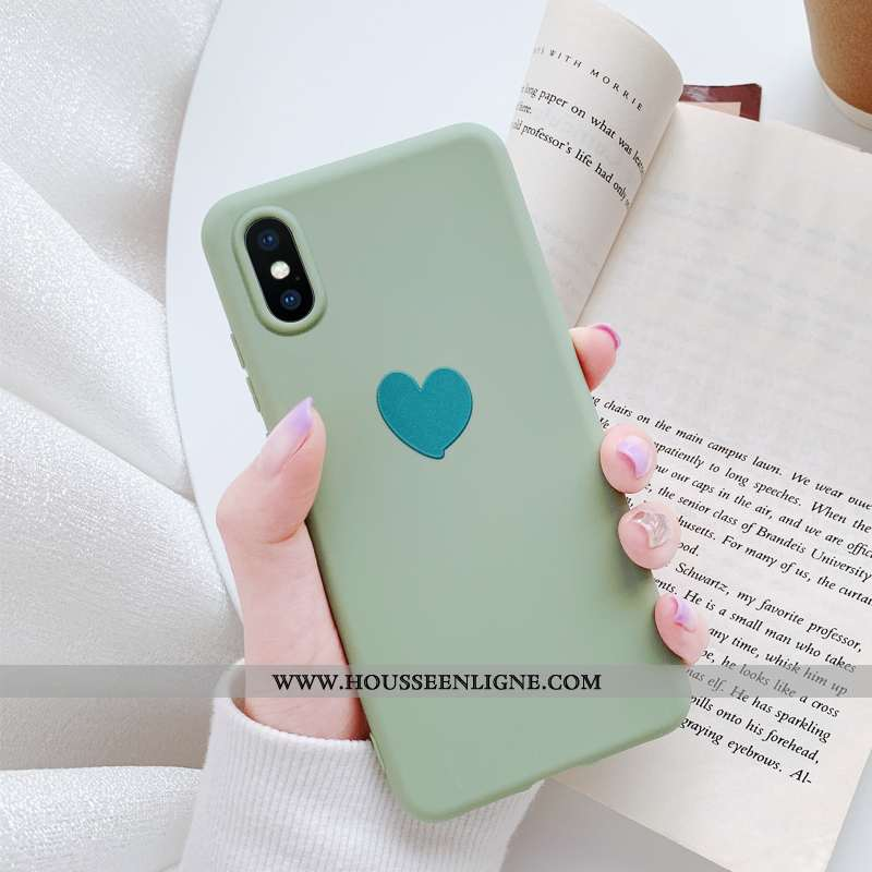 Coque iPhone Xs Ultra Légère Étui Fluide Doux Vert Nouveau Verte