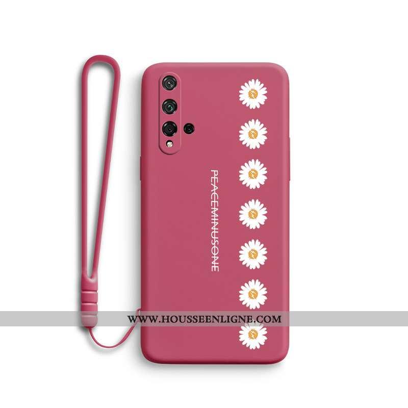 Housse Honor 20 Légère Silicone Incassable Téléphone Portable Protection Personnalité Tendance Rouge