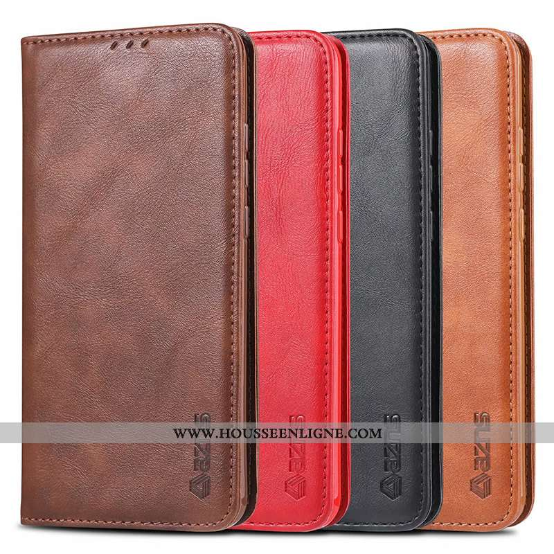 Housse Honor 20 Pro Cuir Protection Téléphone Portable Incassable Rouge Portefeuille Étui