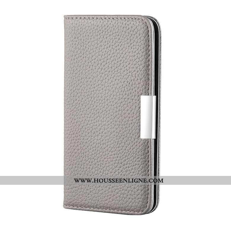 Housse Honor 20 Pro Cuir Silicone Protection Téléphone Portable Étui Gris
