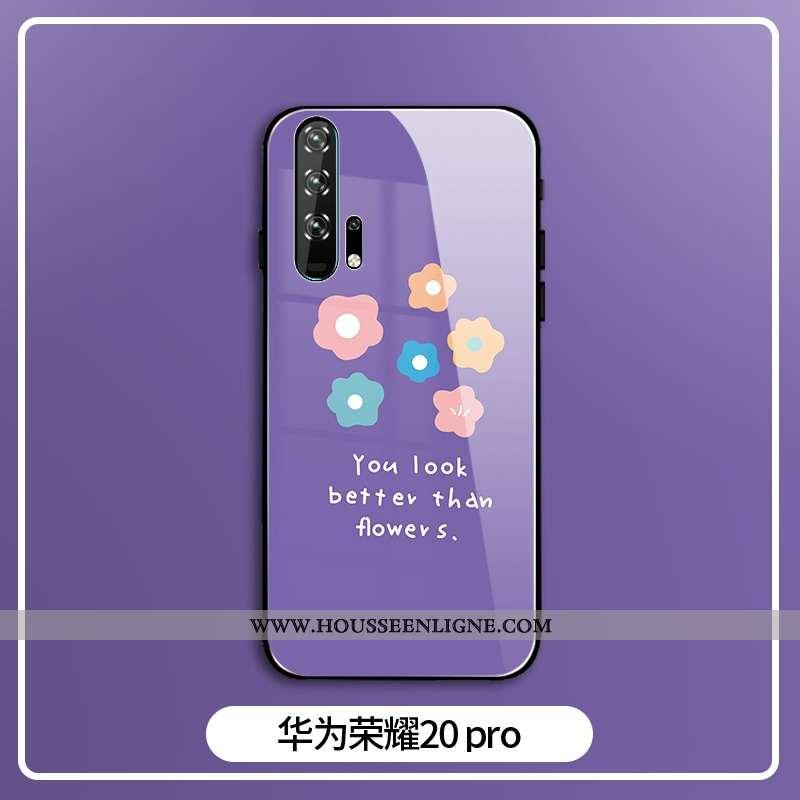 Housse Honor 20 Pro Personnalité Créatif Mode Protection Violet Silicone Coque