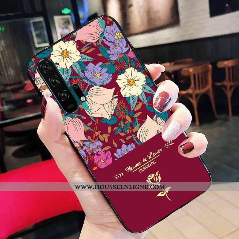 Housse Honor 20 Pro Silicone Personnalité Support Téléphone Portable Jeunesse Rouge Fluide Doux