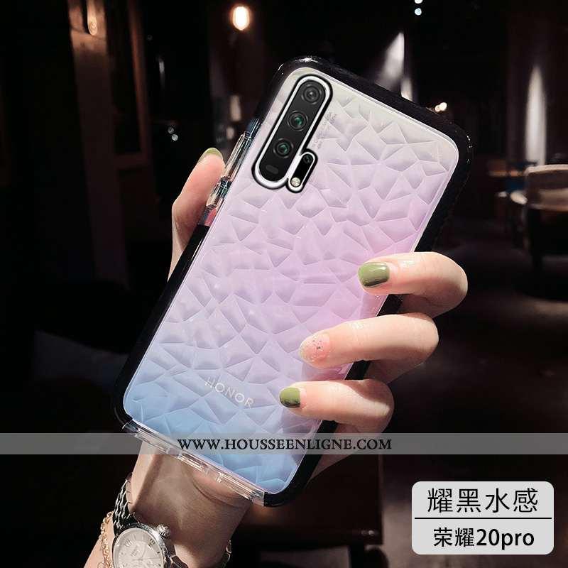 Housse Honor 20 Pro Tendance Fluide Doux Simple Téléphone Portable Noir Incassable Tout Compris