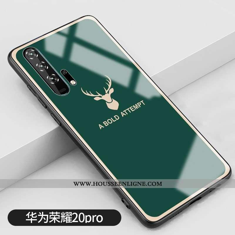Housse Honor 20 Pro Verre Créatif Vert Clair Téléphone Portable Miroir Petit Verte