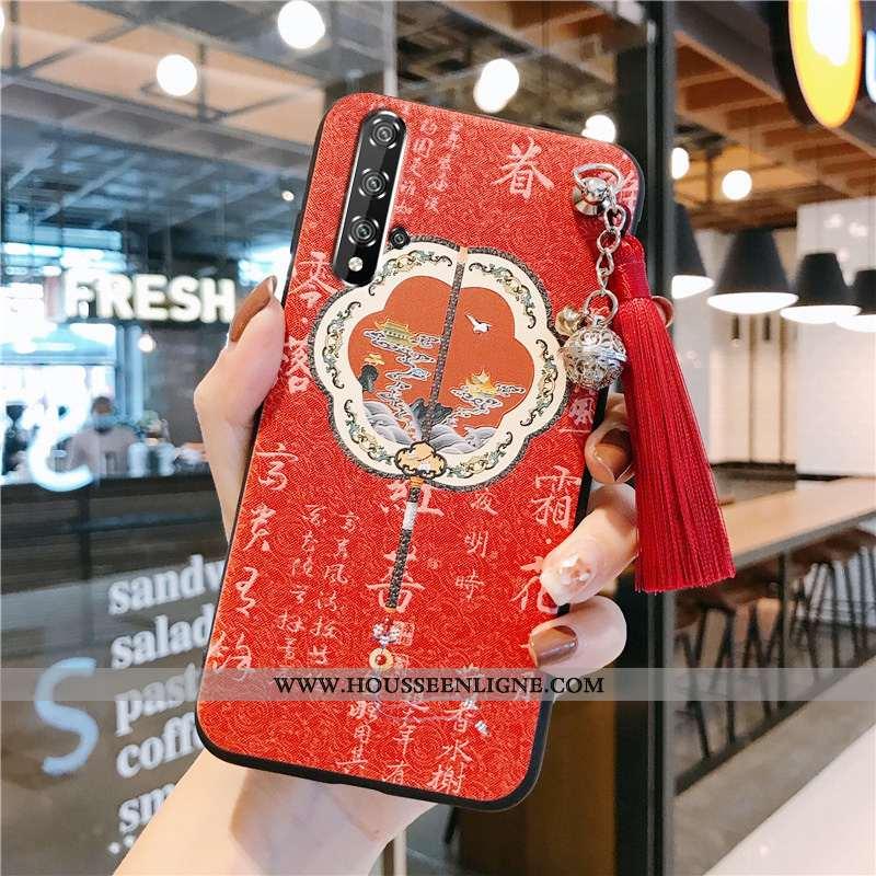 Housse Honor 20 Silicone Protection Vent Incassable Vintage Coque Étui Rouge
