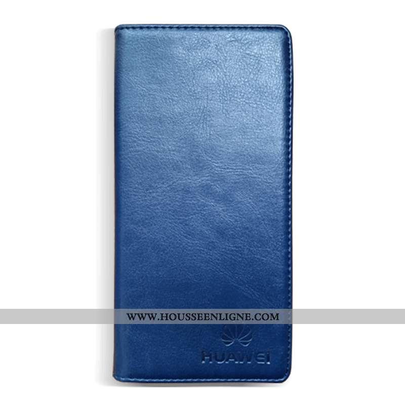 Housse Honor 30 Cuir Véritable Cuir Étui Business Coque Tout Compris Simple Bleu Foncé