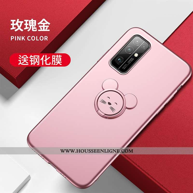 Housse Honor 30 Fluide Doux Protection Téléphone Portable Légère Support Coque Dessin Animé Rose