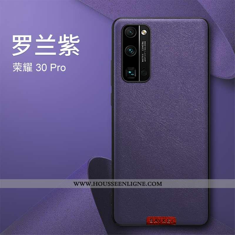 Housse Honor 30 Pro Fluide Doux Silicone Légère Téléphone Portable Créatif Ultra Protection Violet