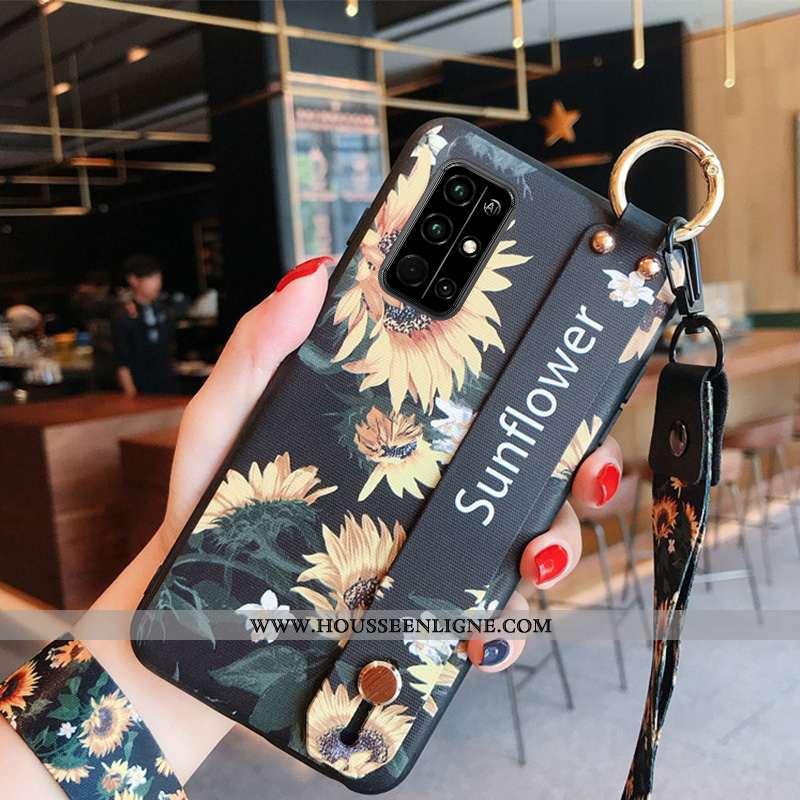 Housse Honor 30s Personnalité Créatif Noir Téléphone Portable Protection Fluide Doux Ornements Suspe