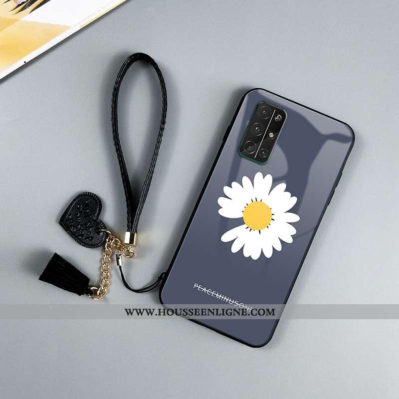 Housse Honor 30s Protection Verre Téléphone Portable Fluide Doux Miroir Net Rouge Incassable Bleu