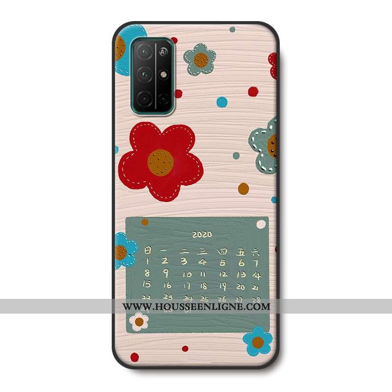 Housse Honor 30s Silicone Protection Petit Frais Téléphone Portable Gaufrage Étui Beige