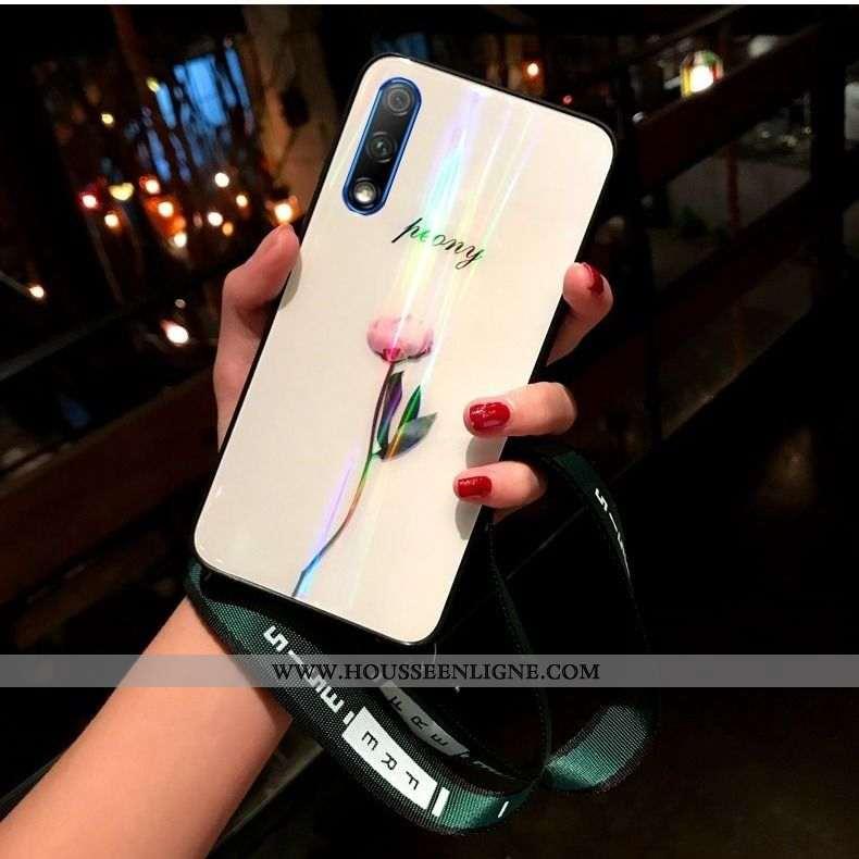 Housse Honor 9x Cou Suspendu Ultra Silicone Jeunesse Téléphone Portable Tout Compris Coque Blanche