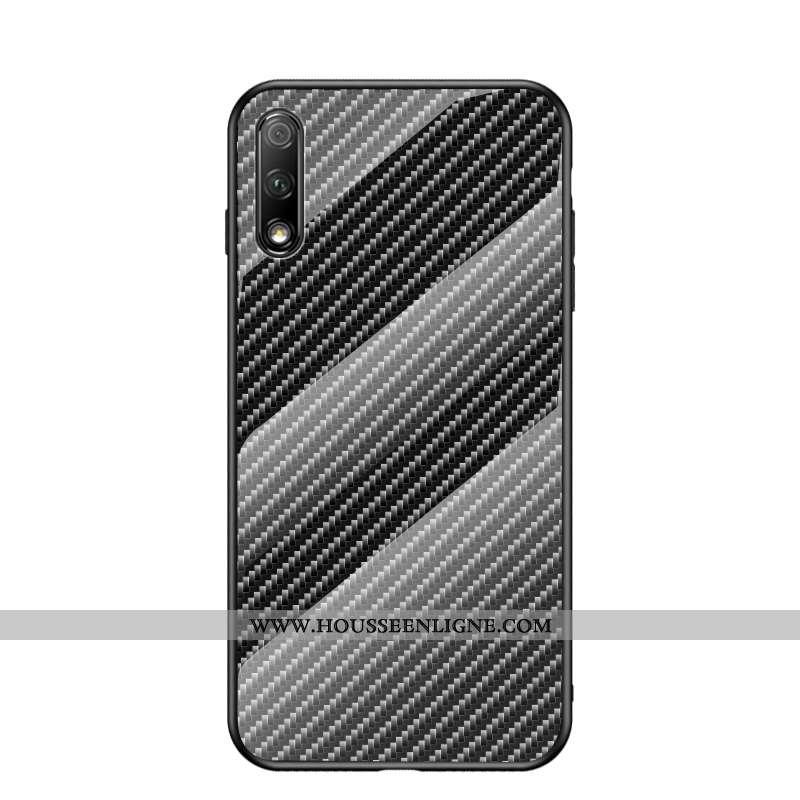 Housse Honor 9x Fluide Doux Mode Téléphone Portable Noir Verre Tout Compris Fibre