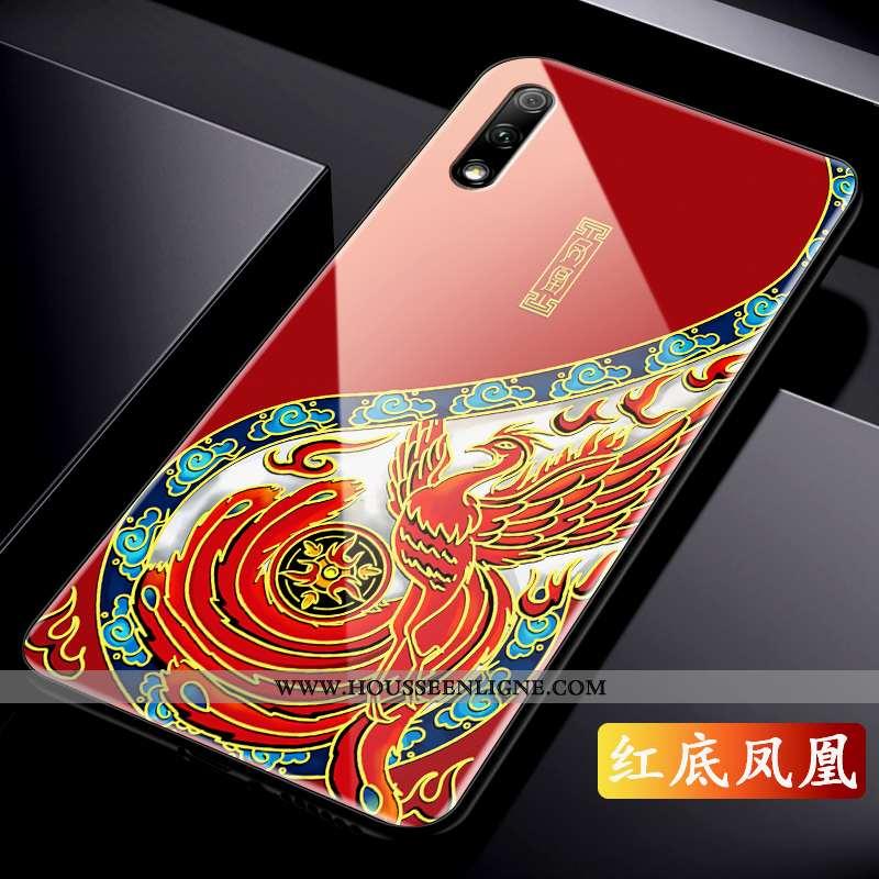 Housse Honor 9x Légère Protection Rouge Original Incassable Net Rouge Style Chinois