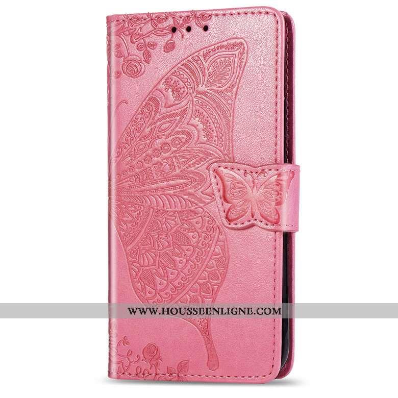 Housse Honor 9x Pro Cuir Coque Étui Clamshell Téléphone Portable Rose
