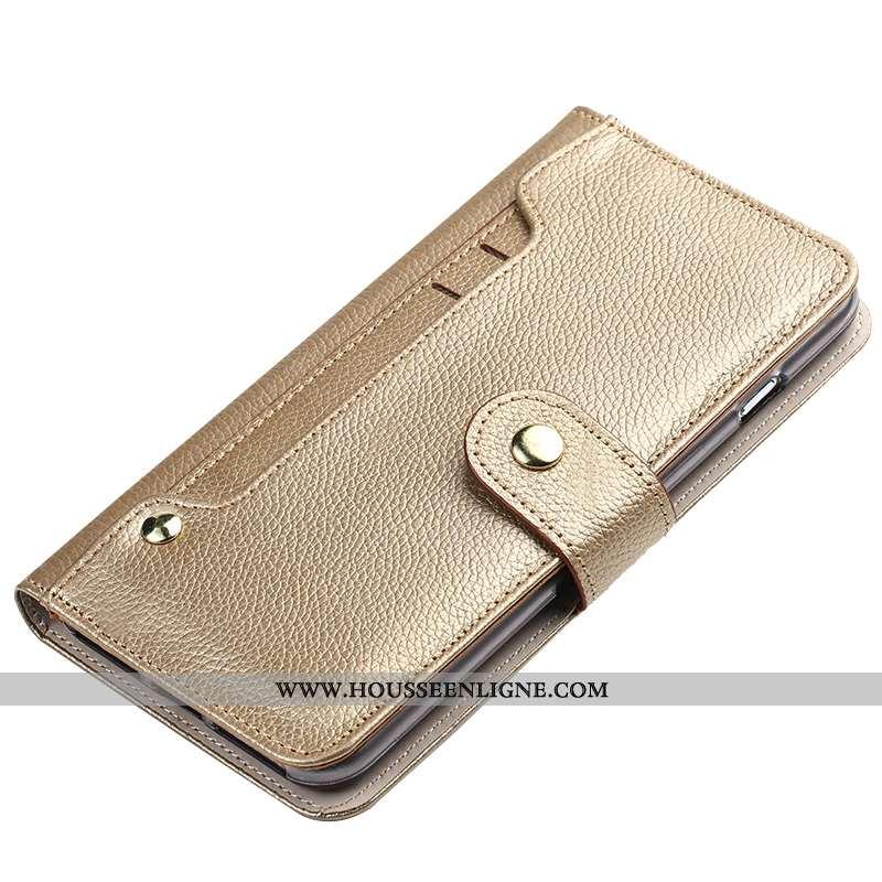 Housse Honor 9x Pro Cuir Véritable Cuir Or Coque Téléphone Portable Clamshell Bovins Doré