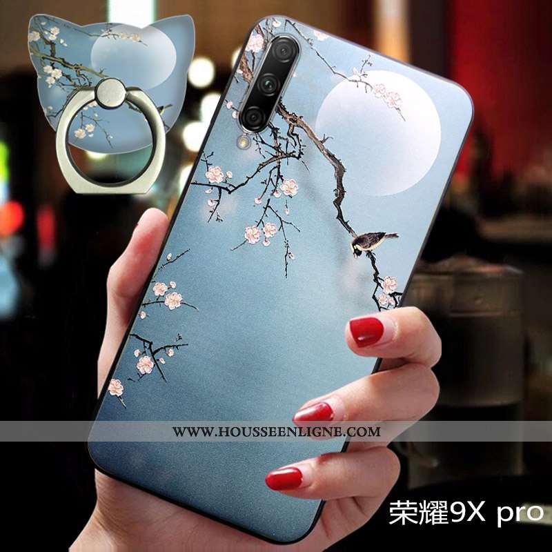 Housse Honor 9x Pro Protection Délavé En Daim Téléphone Portable Incassable Silicone Légère Tendance