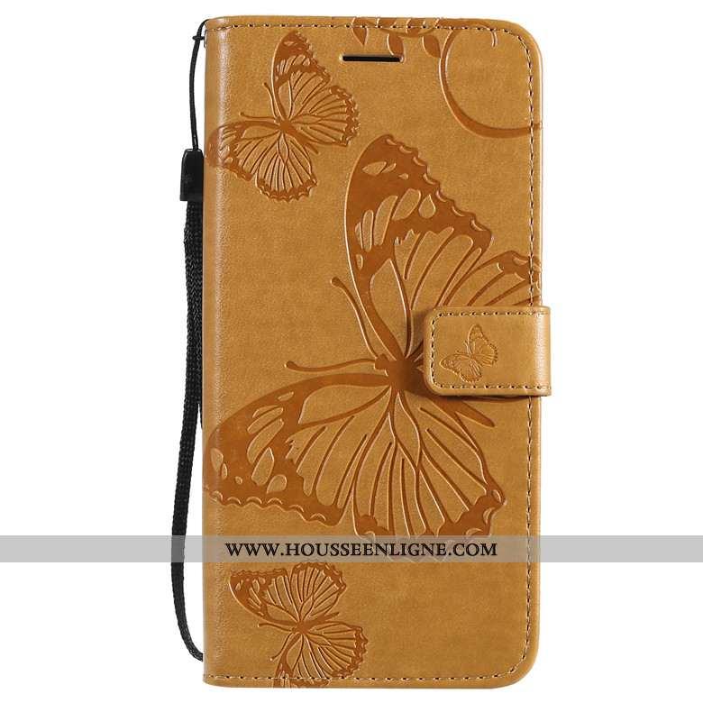 Housse Honor 9x Protection Cuir Jaune Étui Silicone Incassable Téléphone Portable