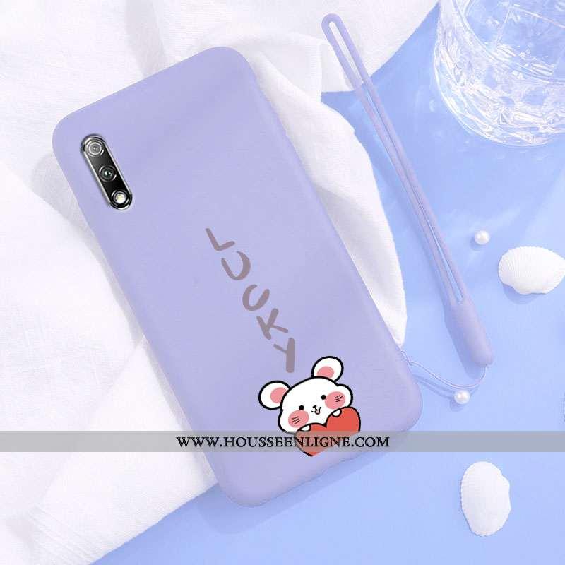 Housse Honor 9x Silicone Protection Incassable Rat Charmant Personnalité Téléphone Portable Bleu