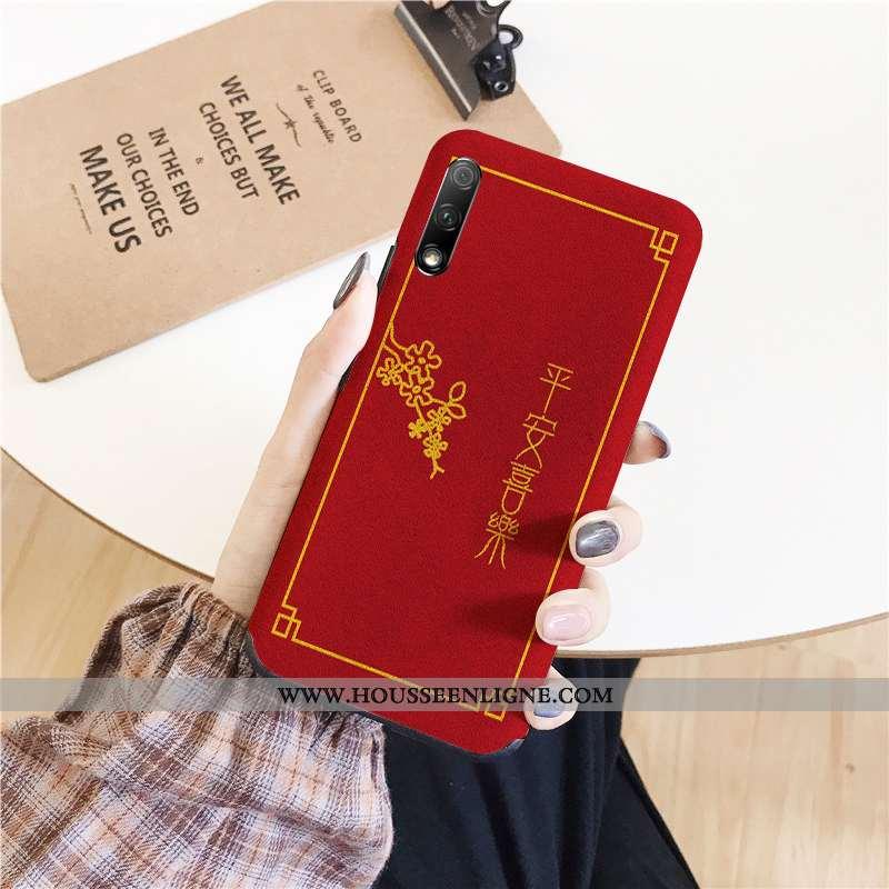 Housse Honor 9x Tendance Fluide Doux Téléphone Portable Amoureux Coque Étui Rouge