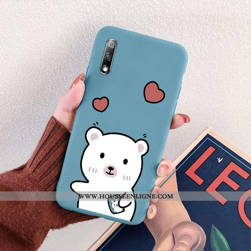 Housse Honor 9x Ultra Légère Simple Lapin Créatif Téléphone Portable Tout Compris Bleu