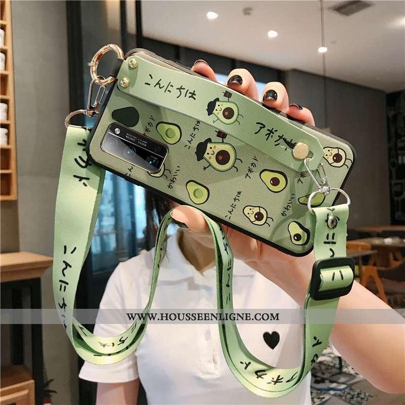 Housse Honor View30 Fluide Doux Mode Étui Créatif Vert Dessin Animé Téléphone Portable Verte