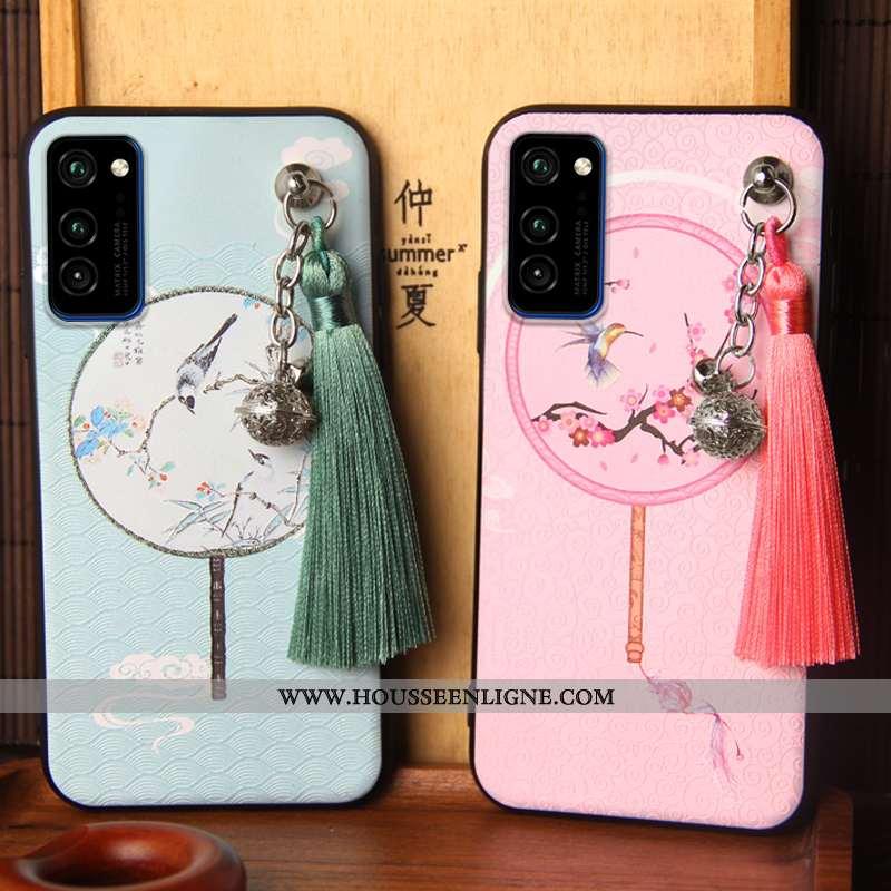 Housse Honor View30 Personnalité Créatif Téléphone Portable Étui Incassable Tendance Silicone Rose