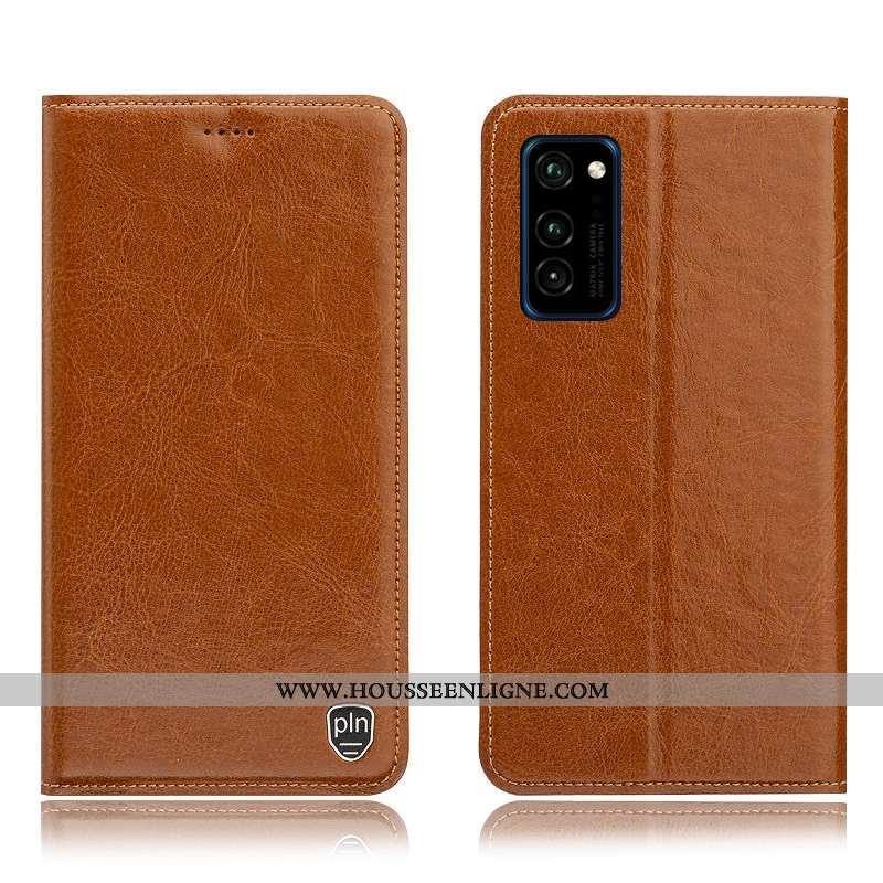 Housse Honor View30 Pro Cuir Véritable Modèle Fleurie Tout Compris Téléphone Portable Coque Étui Mar