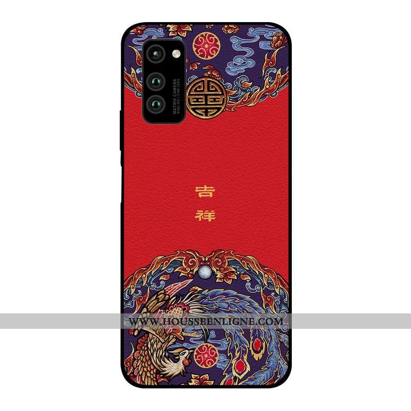 Housse Honor View30 Pro Modèle Fleurie Silicone Style Chinois Rouge Nouveau Tout Compris Qualité