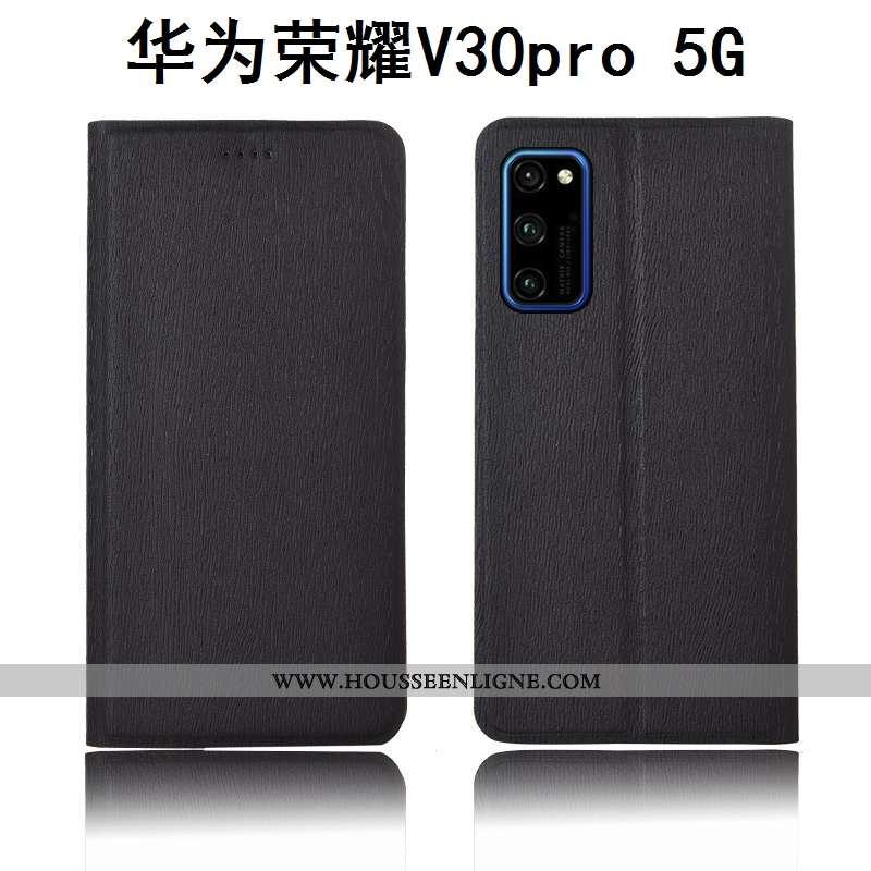 Housse Honor View30 Pro Protection Cuir Téléphone Portable Étui Modèle Fleurie Fluide Doux Arbres No