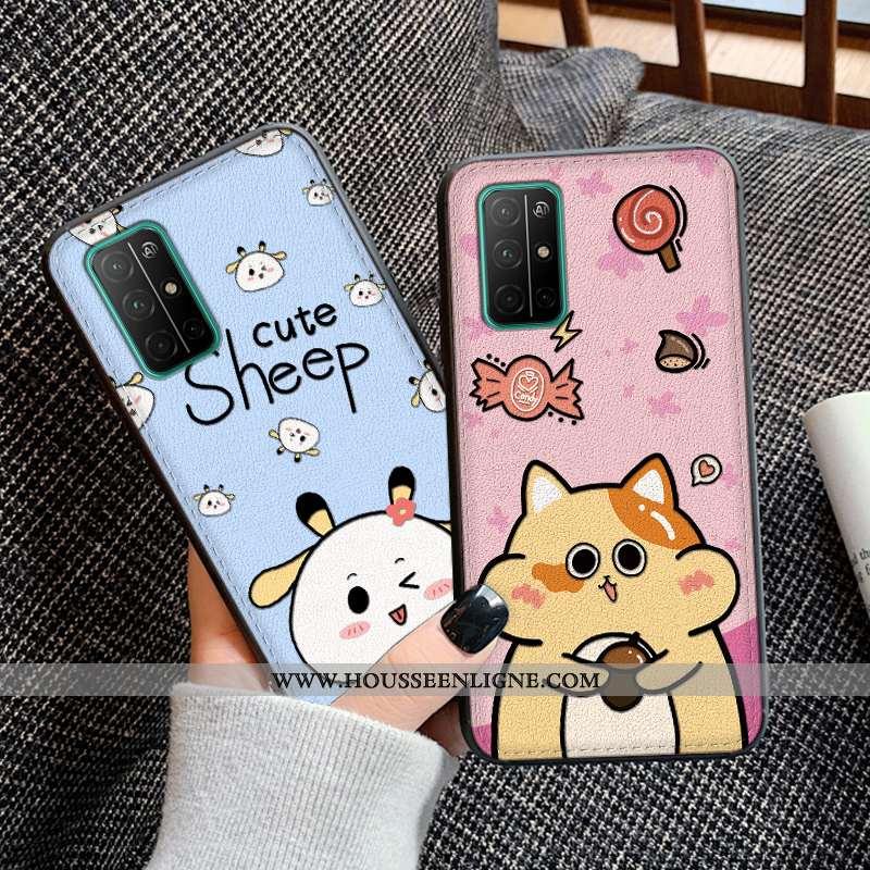Housse Honor View30 Silicone Protection Cuir Bleu Téléphone Portable Gaufrage Coque