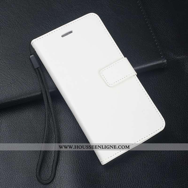 Housse Huawei Mate 10 Lite Cuir Fluide Doux Téléphone Portable Support Blanc Incassable Coque Blanch