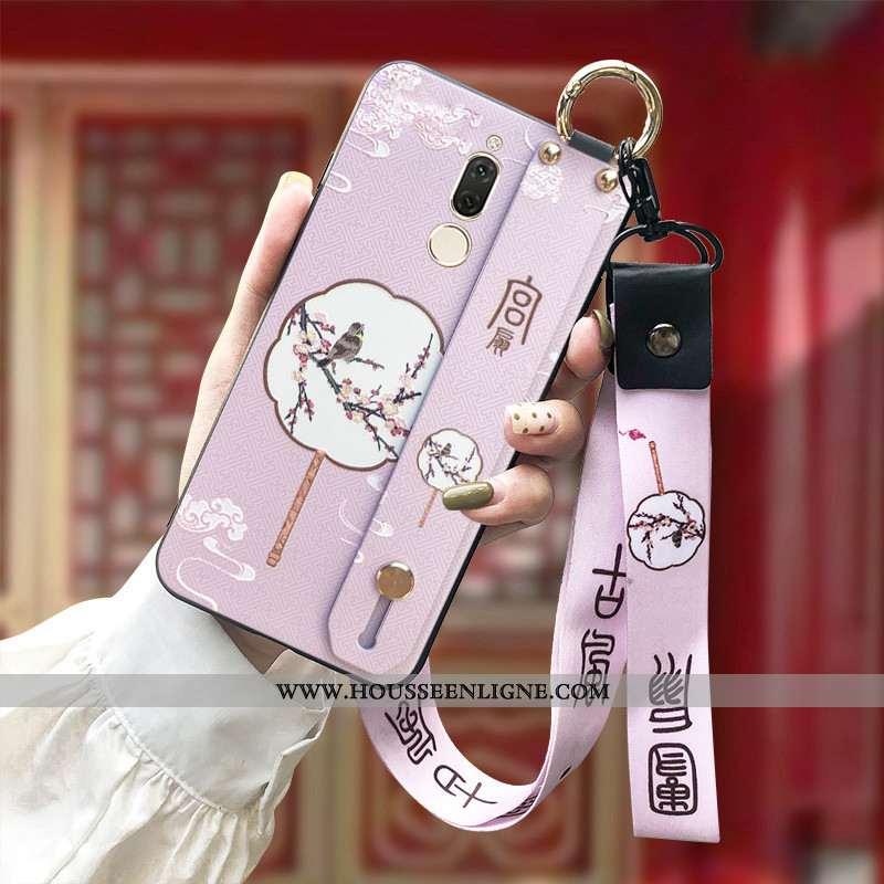 Housse Huawei Mate 10 Lite Fluide Doux Silicone Ornements Suspendus Rose Protection Étui Gaufrage