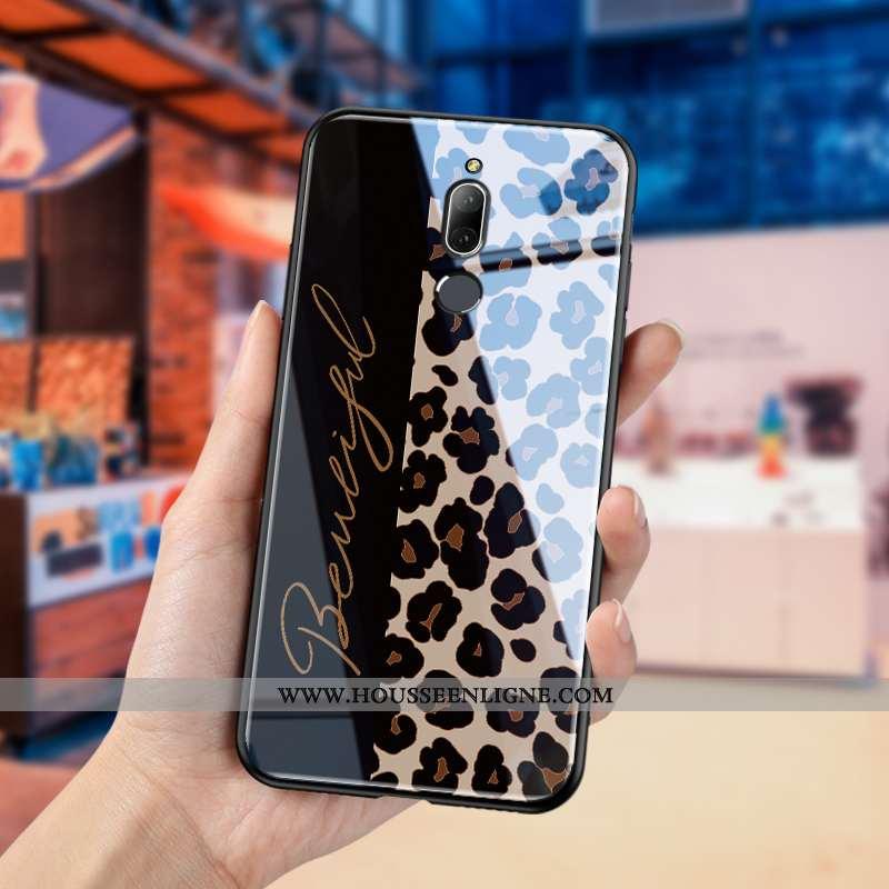 Housse Huawei Mate 10 Lite Légère Modèle Fleurie Noir Téléphone Portable Verre Difficile Personnalit