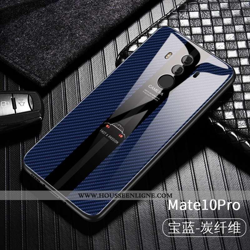 Housse Huawei Mate 10 Pro Créatif Ultra Désign Coque Personnalité Business Étui Bleu