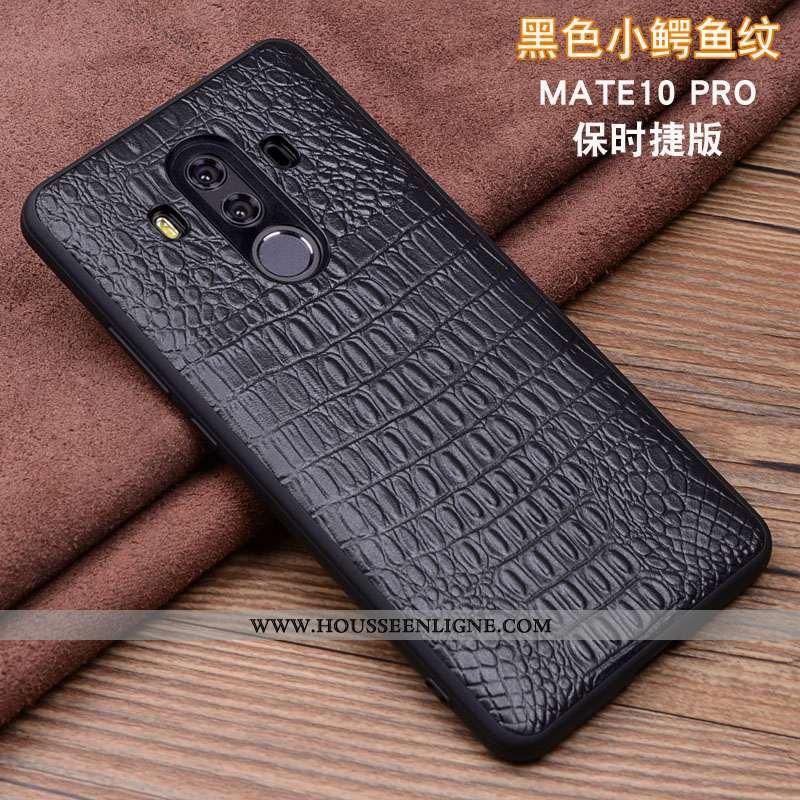 Housse Huawei Mate 10 Pro Protection Cuir Véritable Téléphone Portable Coque Cuir Incassable Étui No
