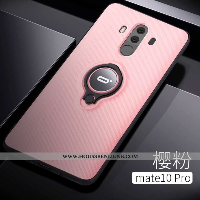 Housse Huawei Mate 10 Pro Protection Transparent Anneau Téléphone Portable Net Rouge Tout Compris Si