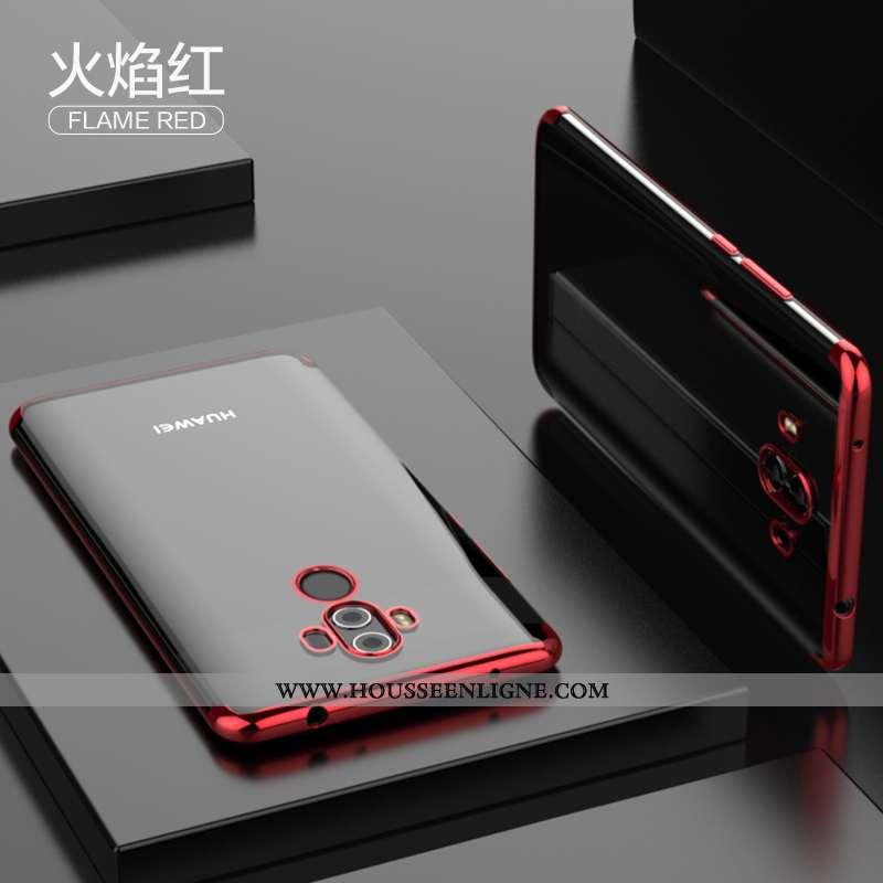 Housse Huawei Mate 10 Pro Tendance Légère Net Rouge Transparent Coque Nouveau Ultra