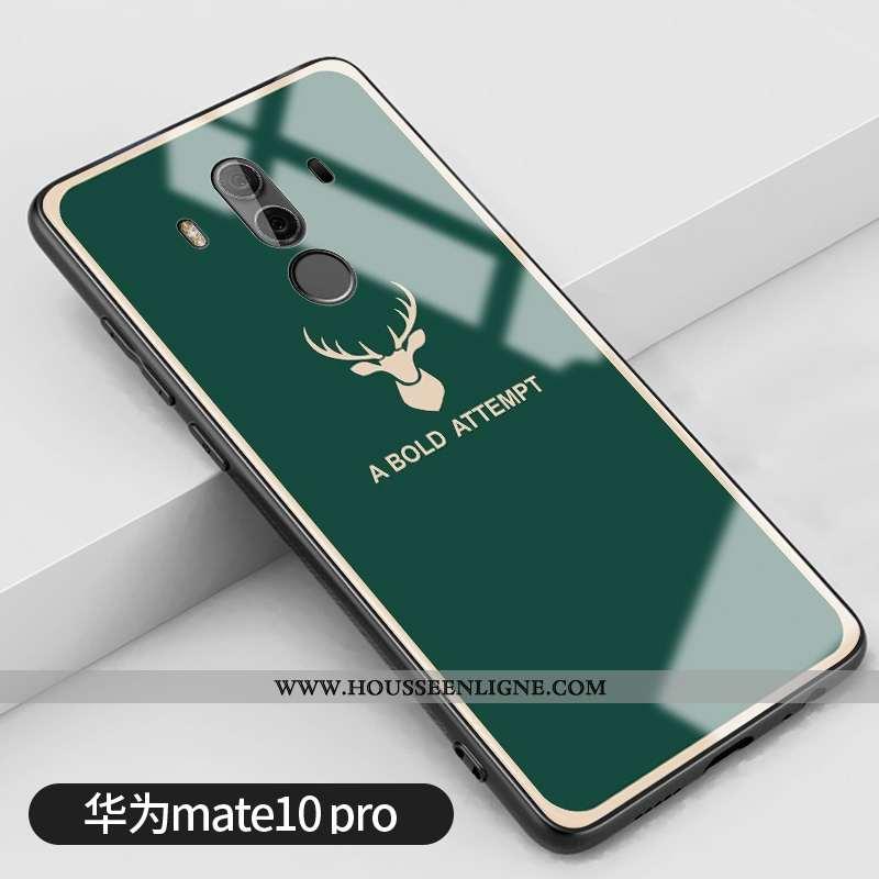 Housse Huawei Mate 10 Pro Tendance Silicone Frais Miroir Vert Étui Vent Verte