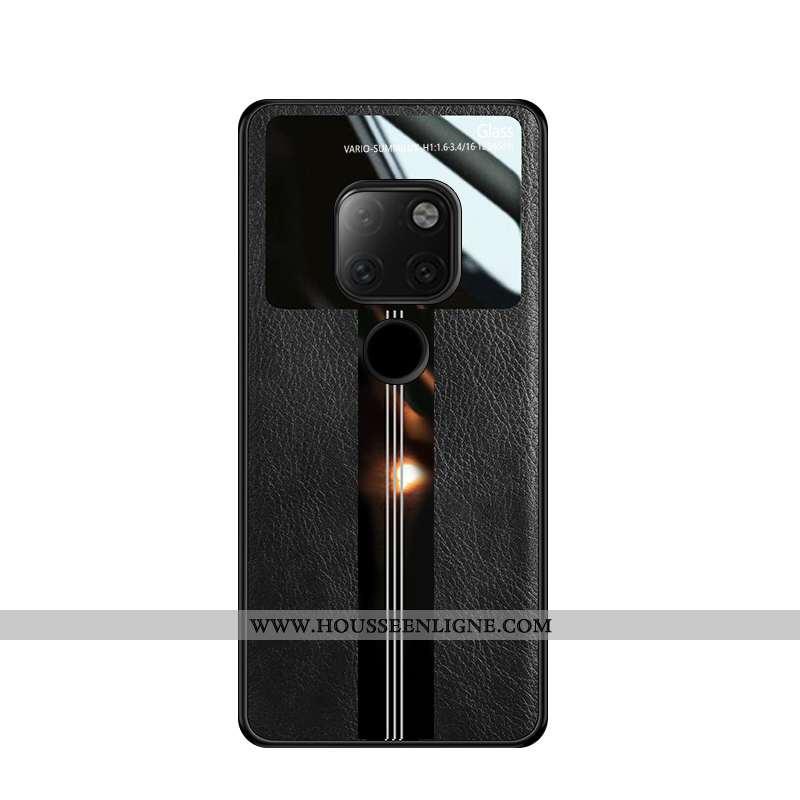 Housse Huawei Mate 20 Créatif Dessin Animé Coque Étui Noir Business Personnalité