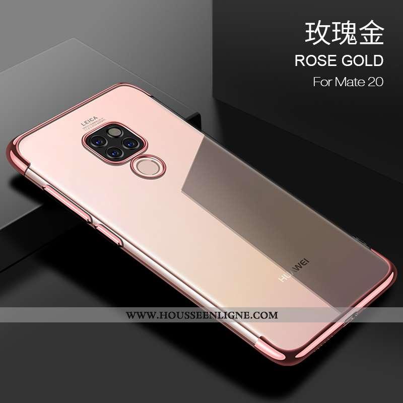 Housse Huawei Mate 20 Légère Fluide Doux Refroidissement Étui Net Rouge Protection Ultra Rose