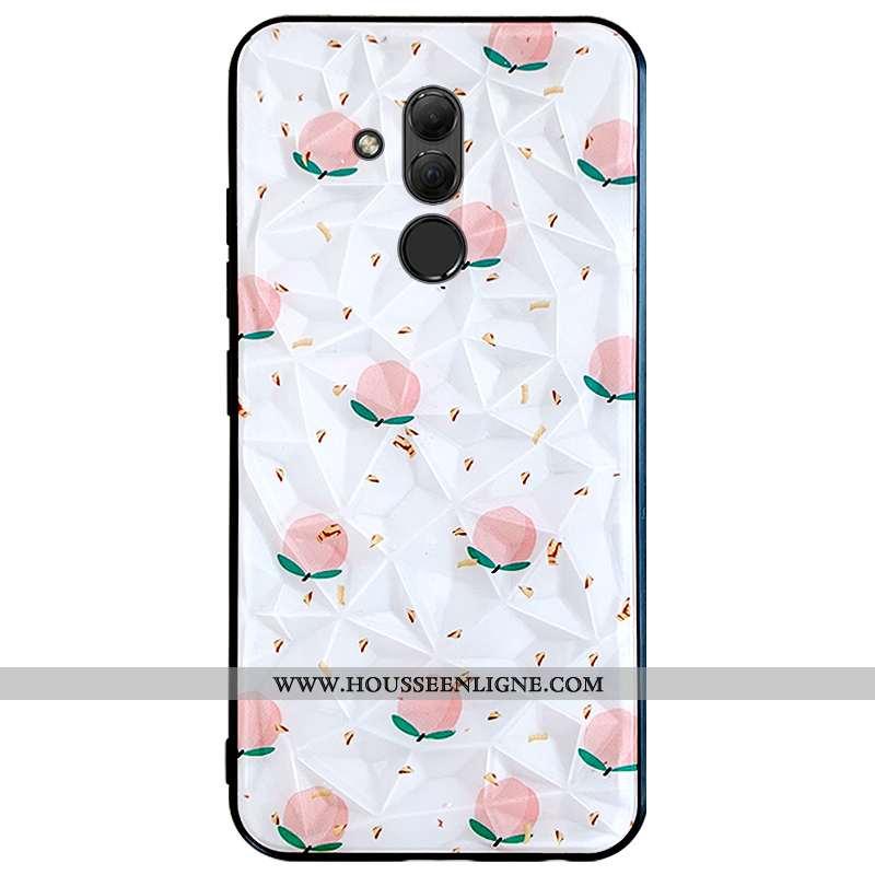 Housse Huawei Mate 20 Lite Modèle Fleurie Protection Blanc Frais Téléphone Portable Charmant Ornemen