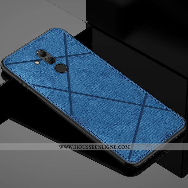 Housse Huawei Mate 20 Lite Personnalité Créatif Protection Téléphone Portable Tissu Mode Étui Bleu
