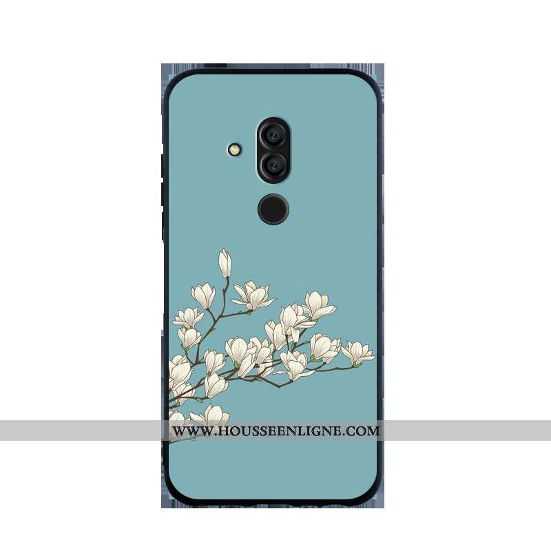 Housse Huawei Mate 20 Lite Personnalité Fluide Doux Coque Bordure Silicone Protection Étui Bleu