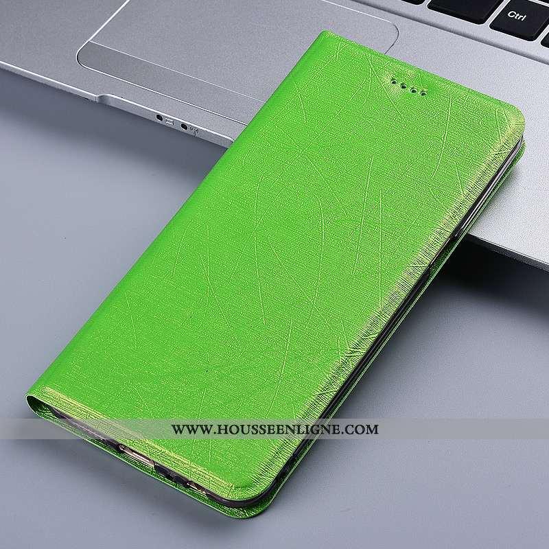 Housse Huawei Mate 20 Lite Protection Cuir Étui Coque Téléphone Portable Silicone Verte