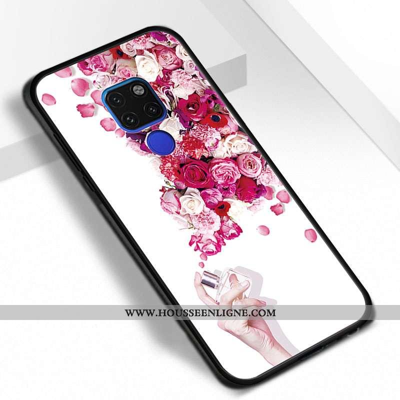 Housse Huawei Mate 20 Personnalité Tendance Rose Téléphone Portable Étui Coque Tout Compris