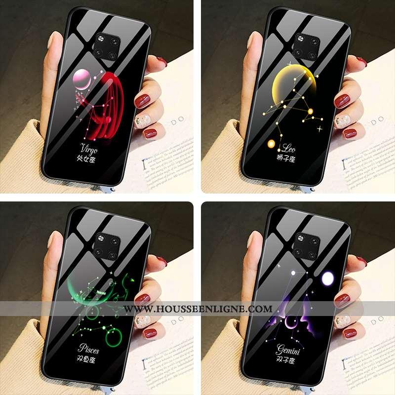 Housse Huawei Mate 20 Pro Charmant Tendance Tout Compris Étui Verre Difficile Amoureux Noir