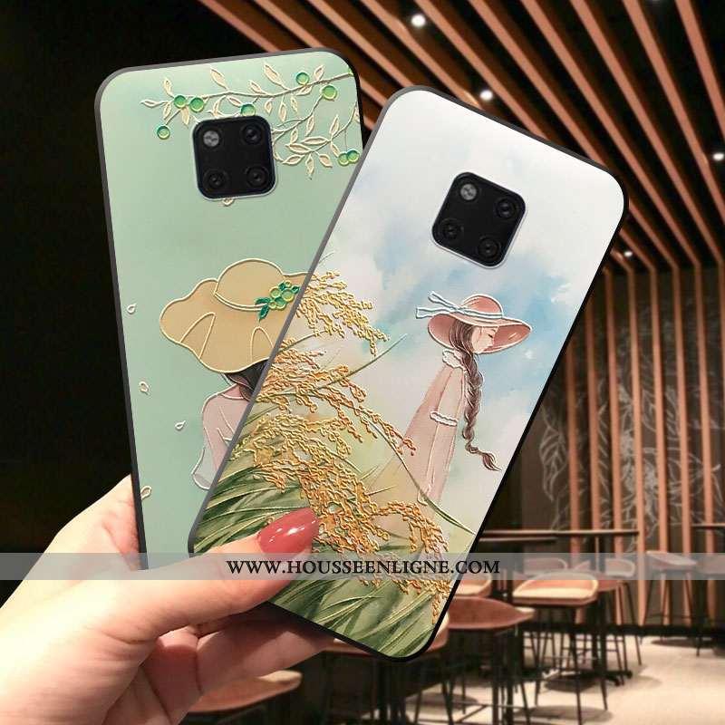 Housse Huawei Mate 20 Pro Délavé En Daim Dessin Animé Protection Incassable Téléphone Portable Tout