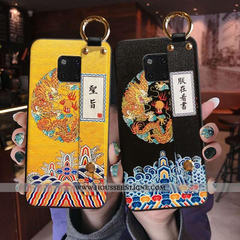 Housse Huawei Mate 20 Pro Mode Protection Créatif Téléphone Portable Étui Personnalité Coque Jaune