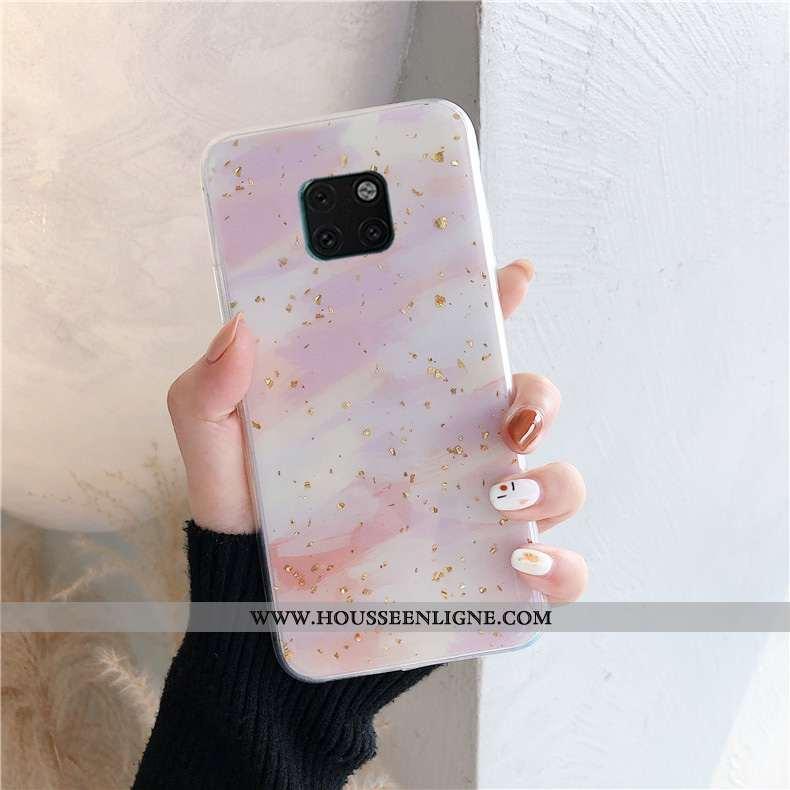 Housse Huawei Mate 20 Pro Personnalité Créatif Protection Simple Rose Net Rouge Nouveau